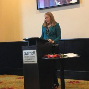 Michelle Nadeau speaking to the Pinellas Chapter of Paralegal Association of Florida